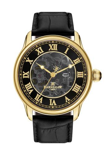Thomas Earnshaw black Thomas Earnshaw Men's Black Genuine Leather Watch - ES-8807-02 358EAACF6462CAGS_1