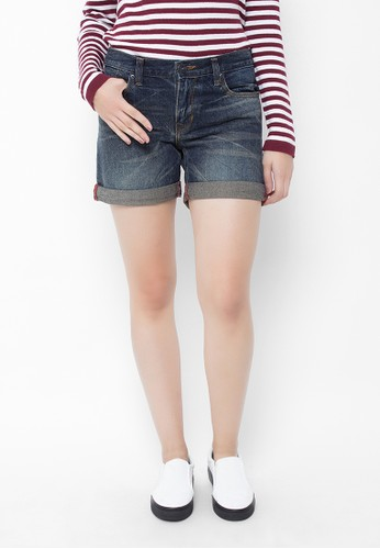 Point One blue HEIDI Denim Shorts PO706AA38QPTID_1