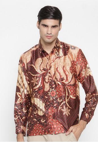 Waskito Kemeja Batik Semi Sutera - KB 15406 - Red
