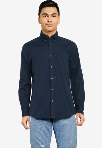 Abercrombie & Fitch navy Spring Super Slim Shirt 1556EAAFC91020GS_1