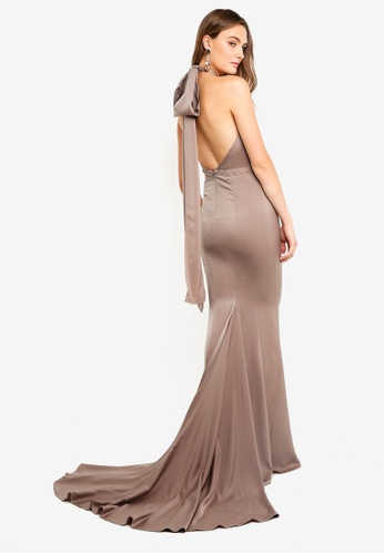 05ce9929825 Elle Zeitoune brown Fishtail Fluid Gown With Sweeping Tail  C1647AA6796C98GS 1