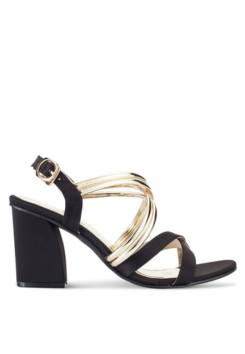 Spiffy black Strappy Heels SP352SH33SDYMY_1