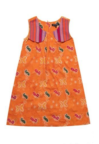 Bateeq orange Girl Dress, Sleeveless,Cotton Cap C7ACAKA8621961GS_1