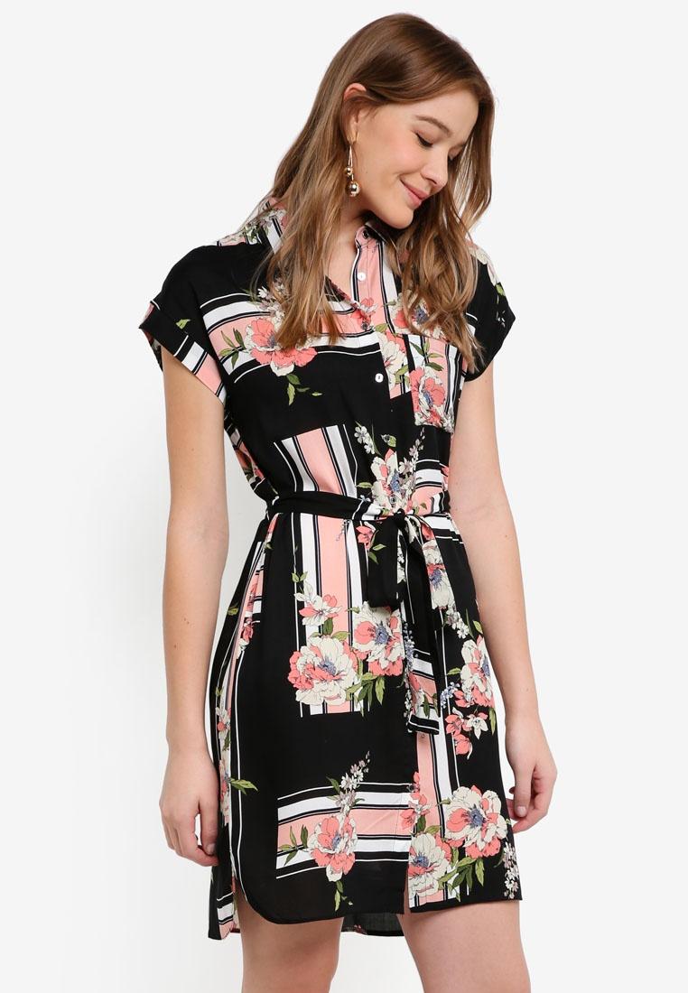 Perkins Shirt Dress Dorothy Pink Pink Print Scarf PqwXxEaZ