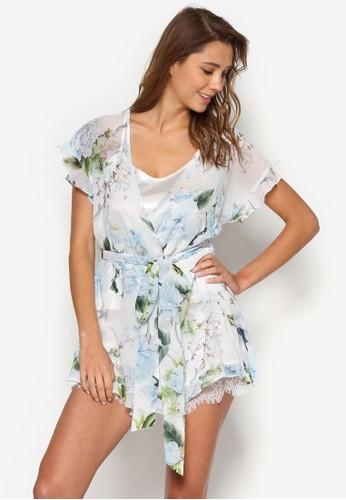Amalia 半透視印花睡袍, esprit 京站服飾, 睡袍