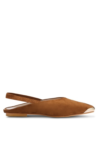 addicts anonymous brown Kaelyn Sling Back Suede Flats AD479SH79HMEMY_1