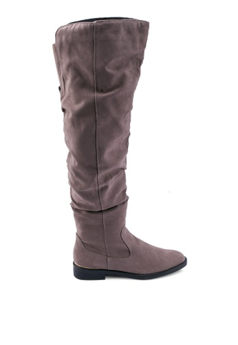 Call It Spring brown Gring Knee High Boots DA4FESHA71FCBCGS_1