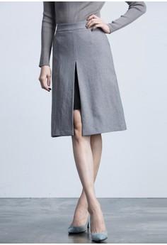 First Slit Midi Skirt