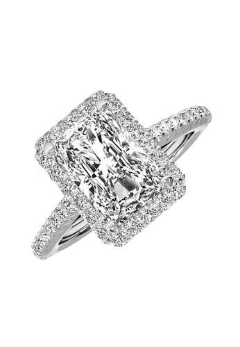Elfi silver Elfi 925 Genuine Silver Engagement Ring P57 - The Obsidian FBB7EAC7FB3EB1GS_1