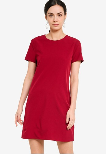 ZALORA WORK red Mini Shift Dress 7ACE2AA6D13F02GS_1