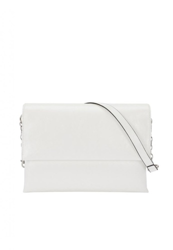 Parfois white Sling Crossbody Bag With Front Flap Fastening 55B56AC2C9A241GS_1