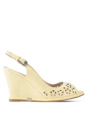 沖孔露趾楔型鞋esprit 台北, 女鞋, 鞋