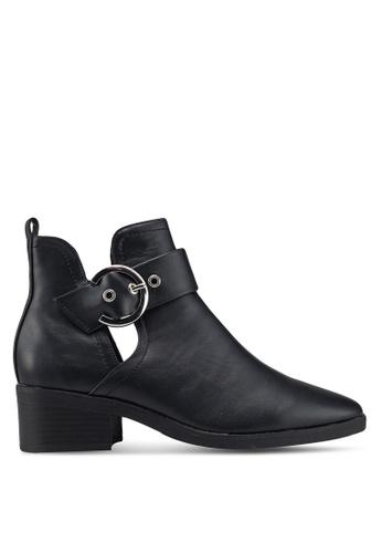 TOPSHOP 黑色 經典踝靴 5CD6BSH758413BGS_1