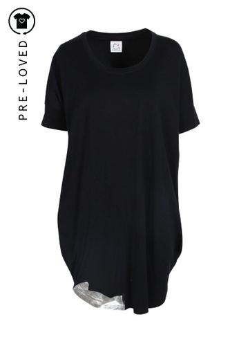Tsumori Chisato black Pre-Loved tsumori chisato Oversize Dress With Print 90FDFAAC10CC4DGS_1