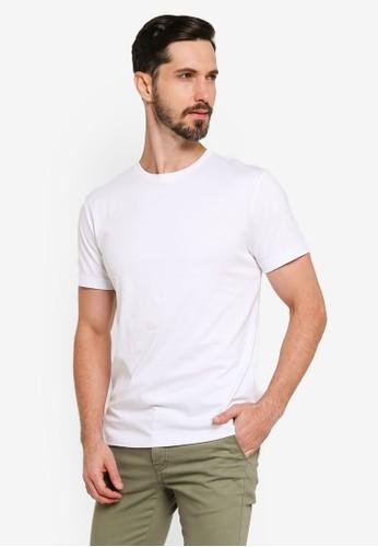 Banana Republic white Authentic Crew Neck T-Shirt 17562AAF71FC35GS_1