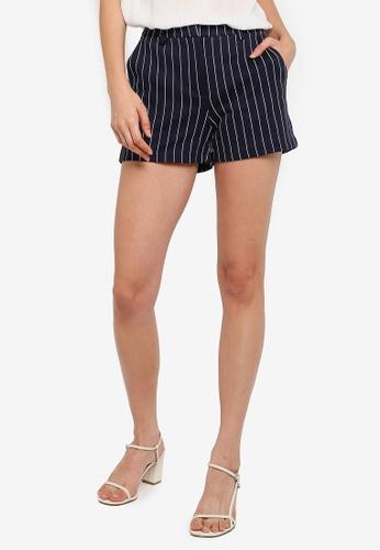 Vero Moda 海軍藍色 條紋短褲 7A430AA2C95555GS_1