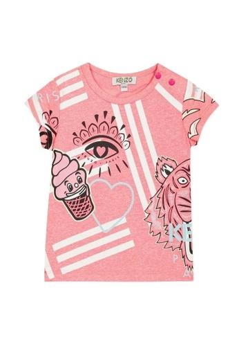 KENZO KIDS pink KENZO BABY GIRLS T-SHIRT 19ACEKA7F91DE4GS_1
