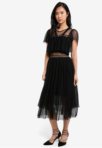 True Decadence black Tulle Dress TR715AA0S69AMY_1