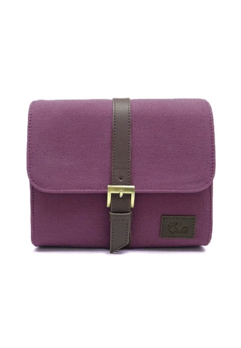 ideer purple Cava S Genuine Leather Trim Travel Mirrorless Camera Bag ID808AC10KQRPH_1