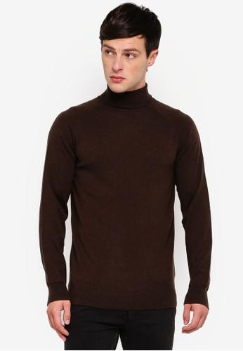 Selected Homme 褐色 高領針織毛衣 D00CAAA13FA635GS_1