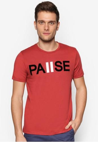 文字設計短袖TEE, zalora taiwan 時尚購物網鞋子服飾, 印圖T恤