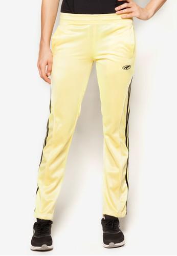 zalora時尚購物網的koumi koumi側條紋女裝運動長褲, 服飾, 短褲