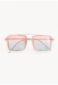 53d681f775 Square Tinted Lens Sunglasses - Pink 70170GLE912F61GS 1 Pomelo ...