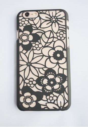 Fancy Cellphone Cases black Flower Web Case for iPhone 6 Plus FA644AC27EWAPH_1