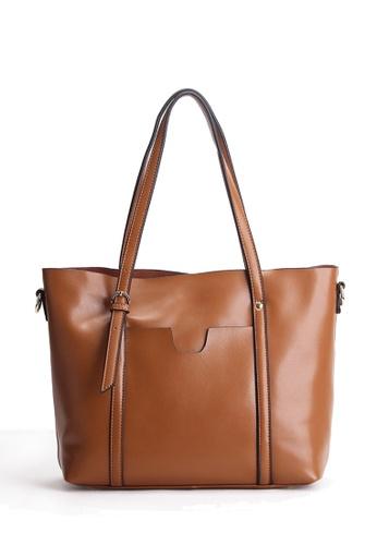 Twenty Eight Shoes brown VANSA Nappa Leather Tote Bag VBW-Tb172 1B998AC678F796GS_1