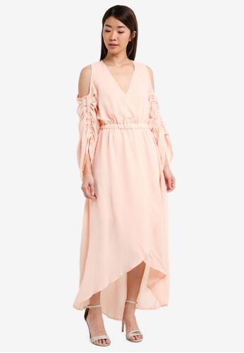 TFNC beige Zita Dress 6911DAA1E09889GS_1