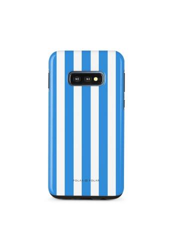Polar Polar blue Blue Stripe Samsung Galaxy S10E Dual-Layer Protective Phone Case (Glossy) FAAA0AC14628B6GS_1