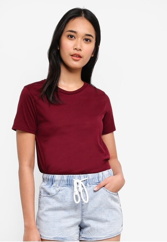 Penshoppe red All Day Semi Fit Tee 4F3C3AA820688AGS_1