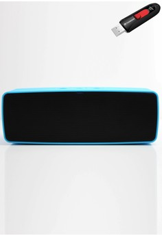 Stereo Bluetooth Speaker with FREE Transcend 8gb USB