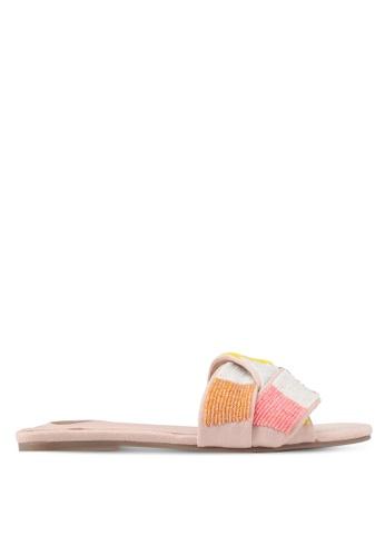 Velvet pink Beaded Sandals 506A0SHC79FE7DGS_1