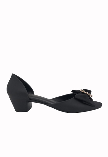 Halo black Bow Waterproof Jelly Shoes 4752ASH0BB28CAGS_1