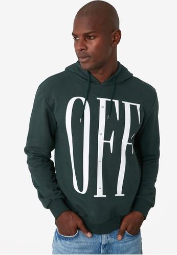 Trendyol green Offline Printed Hoodie 82F09AABB3AE7AGS_1