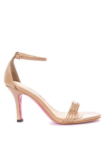 CARMELLETES beige Ankle Strap Heeled Sandals BBC21SH43F906DGS_1