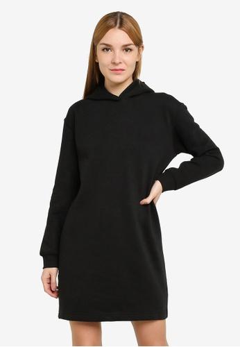 JACQUELINE DE YONG black Line Life Hood Sweat Dress 491AFAA75BCCC1GS_1