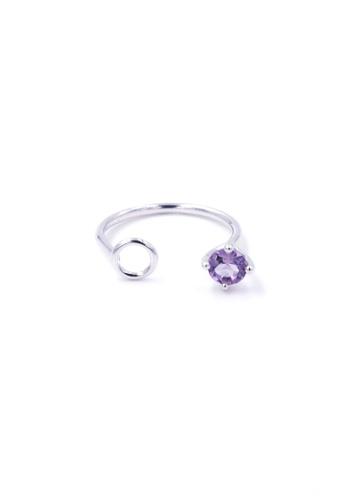 Jewcells purple TRYNGO Birthcells February Ring JE724AC2W97IHK_1