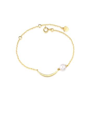 SUNSET 金色 Premium 9K Gold Pearl Bracelet 42161AC65FE128GS_1