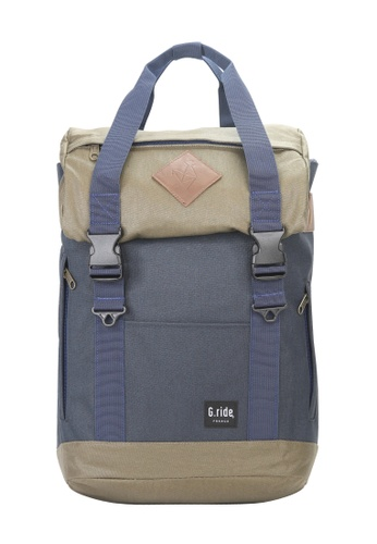 G.ride green and navy Arthur S Backpack A5DC0AC5DB1C05GS_1
