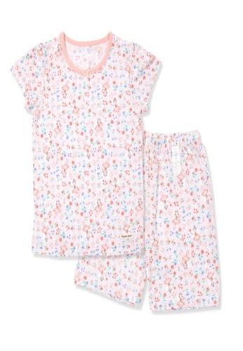 Organic mom pink Organic Cotton Sophie Floral Pajamas B463EKA662BA04GS_1