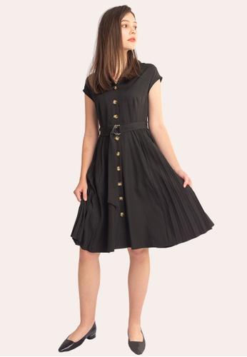 L'zzie 黑色 LZZIE MALIN连衣裙-黑色 95C31AAA4D1AA3GS_1