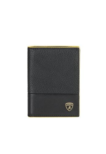 LAMBORGHINI black Automobili Lamborghini® Garage Black Calf Leather Wallet and Credit Cards holder C67D0AC5F4A983GS_1