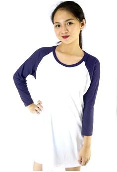 Contrast Raglan Oversize T-Shirt Dress