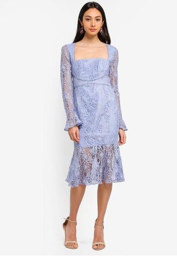 c01c91f87190 Buy Forever New Marissa Lace Square Neck Dress Online on ZALORA ...