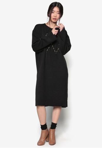 韓系esprit台灣outlet時尚Argyle 針織長袖連身裙, 服飾, 洋裝