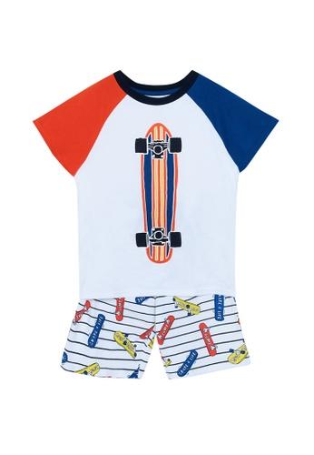 Du Pareil Au Même (DPAM) white Skateboard Pajamas 4A797KA3CCB801GS_1