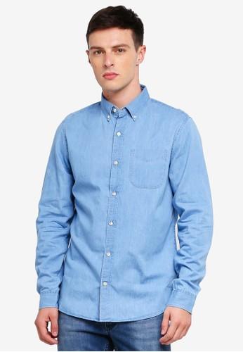 GAP blue Indigo Twill Shirt 71C88AA7CE1122GS_1