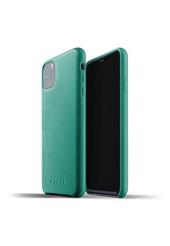 Mujjo green Mujjo Full Leather Case iPhone 11 Pro Max Alpine Green 37085ACEFD2E67GS_1